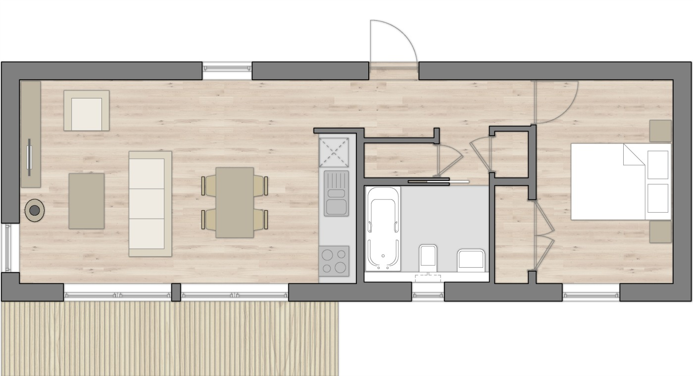 Bothy Mor Floor Plan