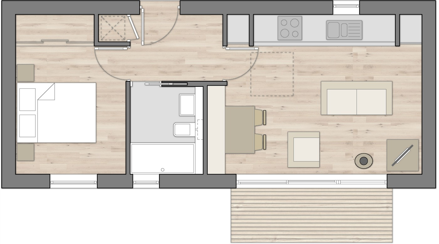 Floor Plan Bothy Medium