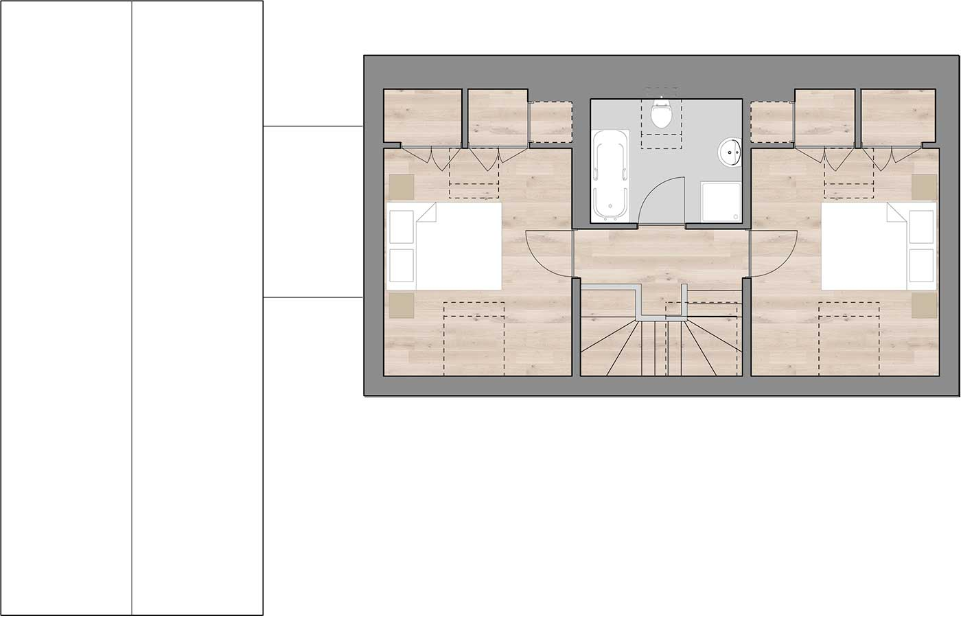 R4 First Floor Rural House Design