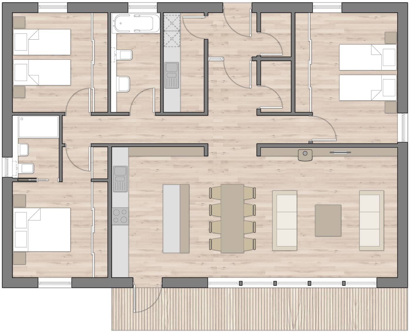 RB3 Floor Plans R.House